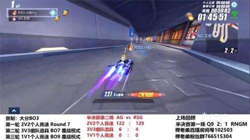 QQ飞车企鹅电竞杯RSG零封Q9夺冠